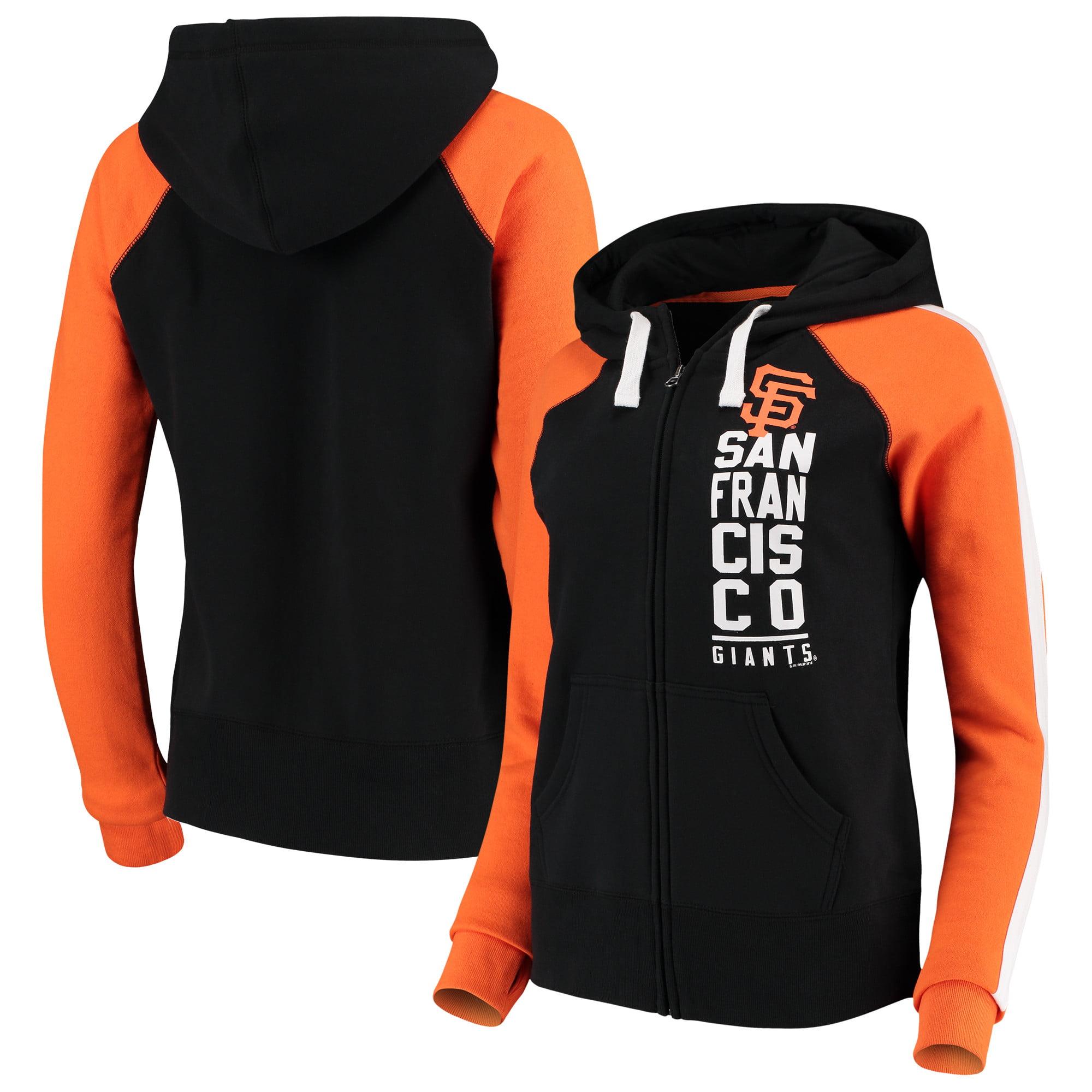 San Francisco Giants G-III 4Her by Carl Banks Women's Game Changer Full-Zip Jacket - Black/Orange