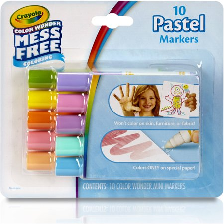 Crayola 10ct Color Wonder Mini Markers - Pastel