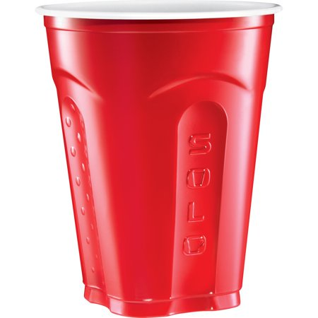 Plastic Cup (Solo Squared Red Party Cups, 18 Oz (200)