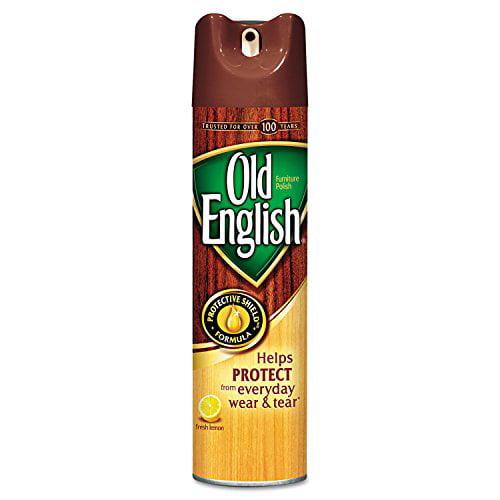 Old English Aerosol Furniture Polish Protection of wood Lemon 12.5oz Each
