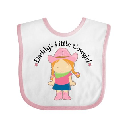 Daddy's Little Cowgirl Baby Bib White/Pink One Size - Cowgirl Cloths