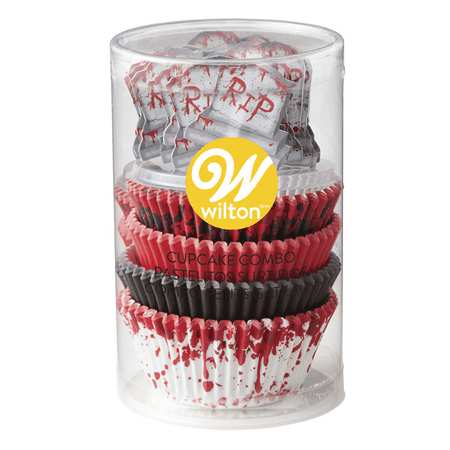 Wilton RIP Halloween Cupcake Kit, 125-Piece Set](Escape Halloween Set Times)