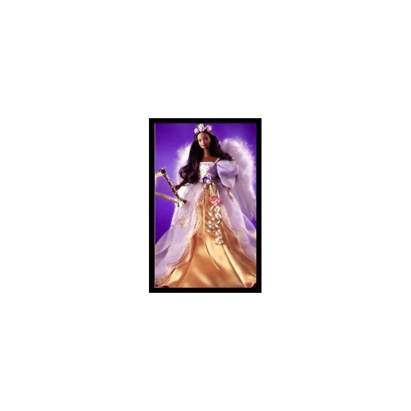 AA African American Angels of Music Harpist Angel Barbie Doll by Mattel by