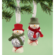 Department 56 Snowbabies 2 Snowman Water Ball Ornament 4020346