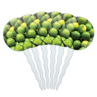 Limes Margaritas Fiesta Mexican Cupcake Picks Toppers - Set of 6