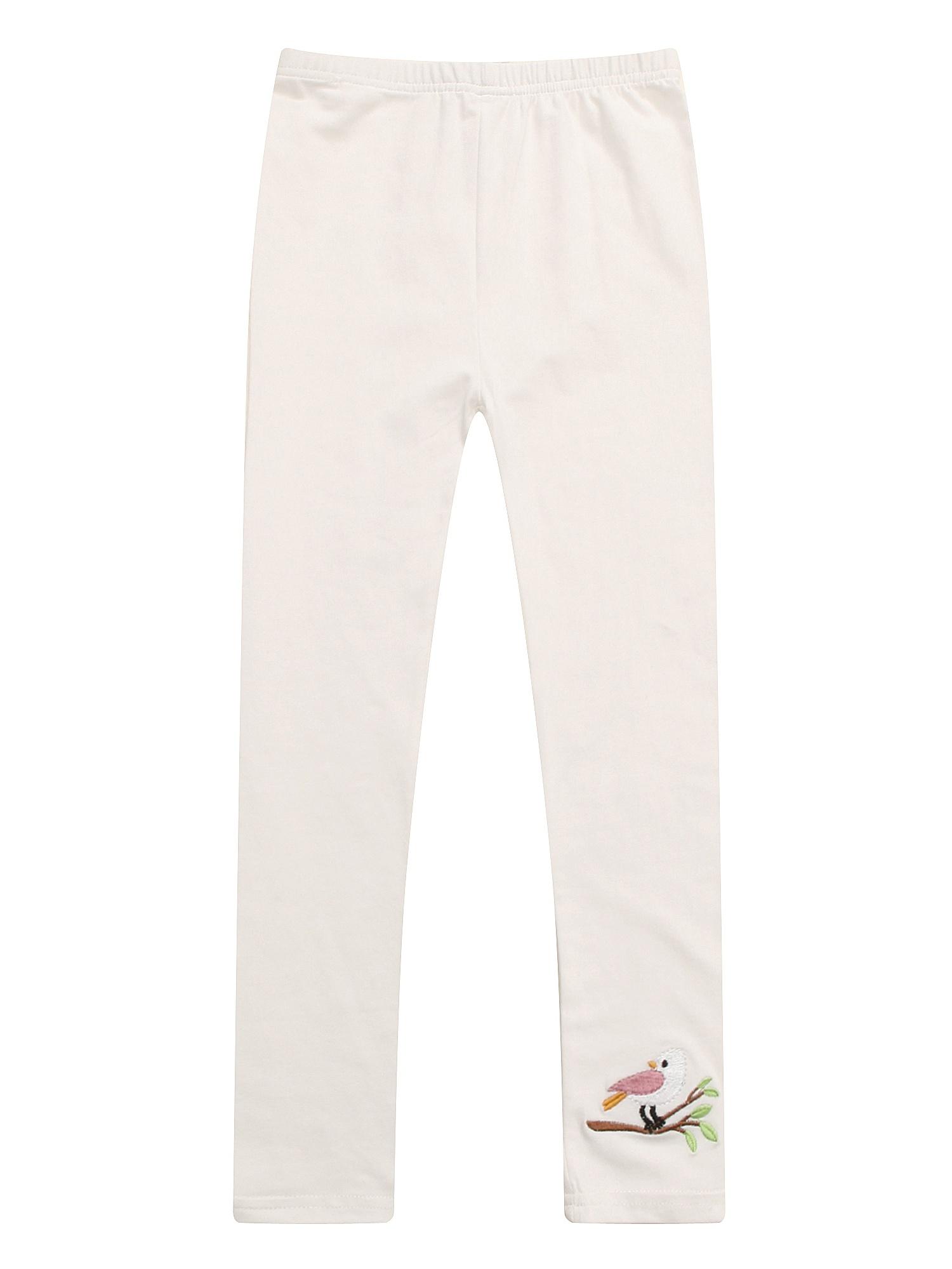 Richie House Girls' Girl Leggings With Embroidered Hem RH1872