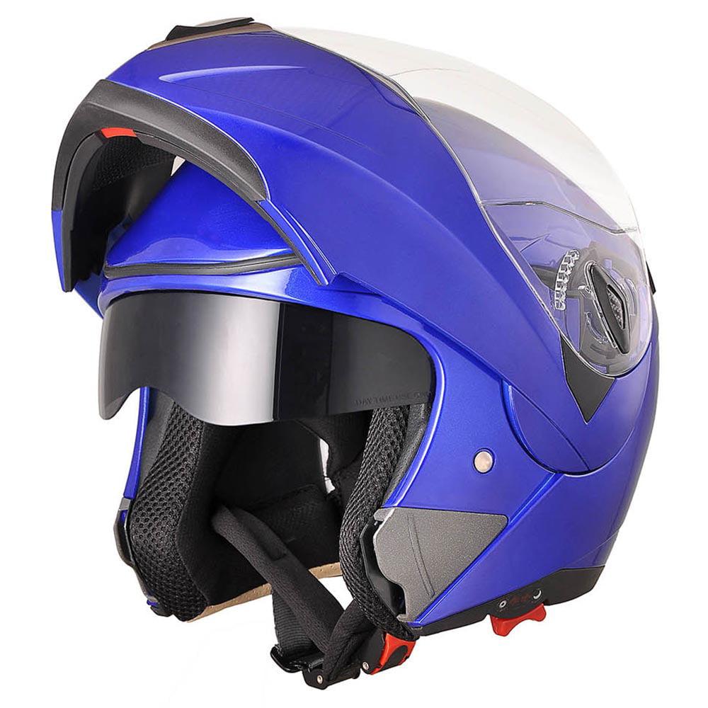 AHR Motorcycle Helmet Flip up Full Face Modular Dual Visor DOT Approved Motocross Color/Size Opt