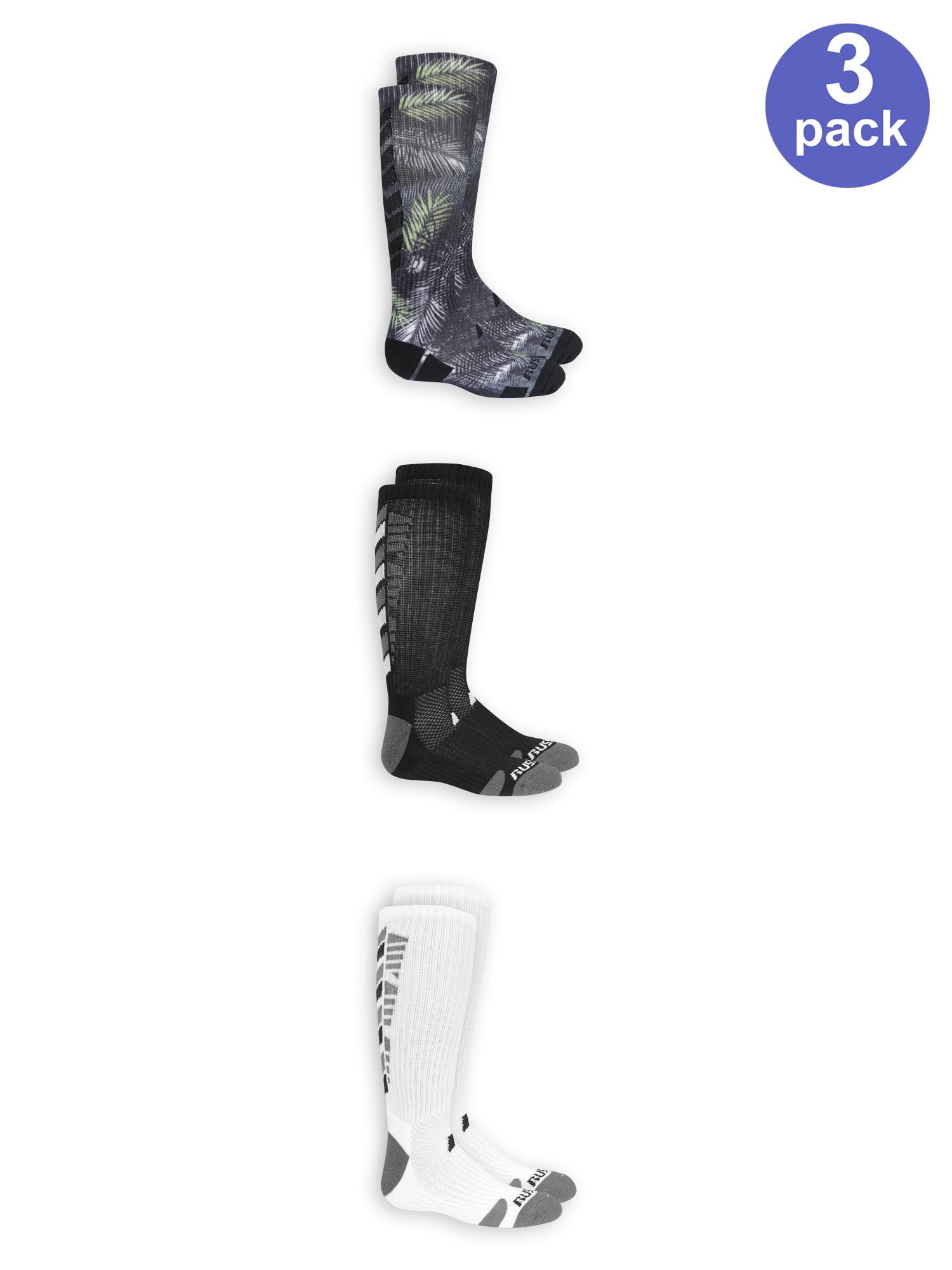 Russell Sublimation 360 Crew Socks, 3 Pairs (Big Boys)