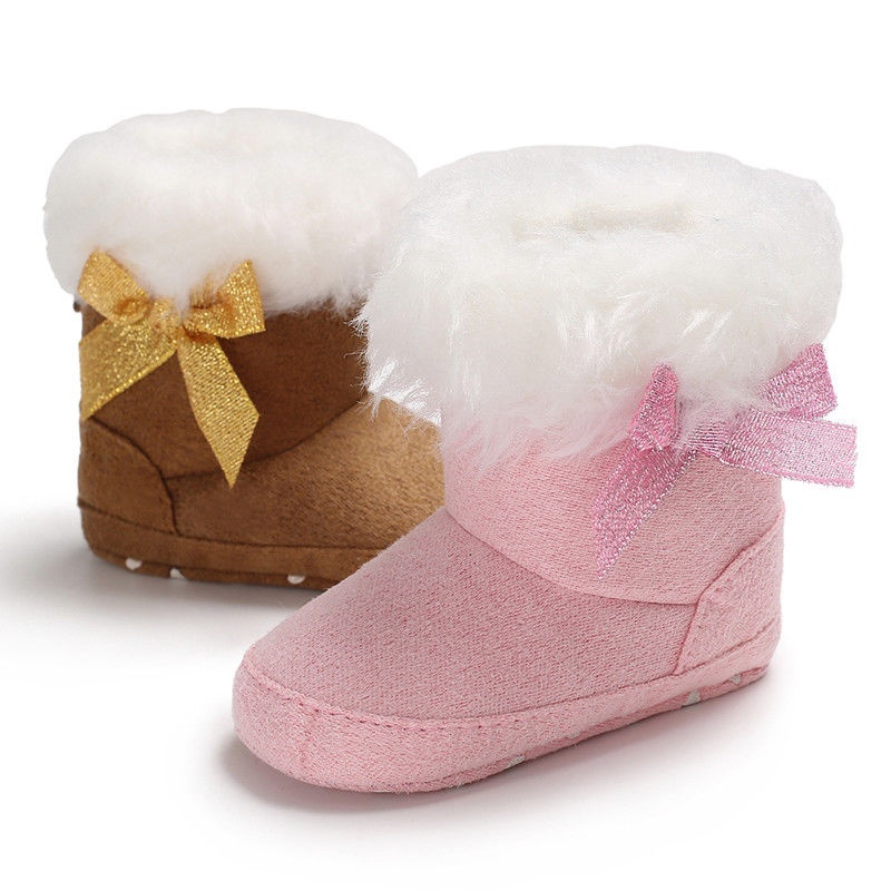 NEW GYMBOREE Baby Boy 01 Crib Shoes Boots Faux Fur Brown SNOW BEAR NWT