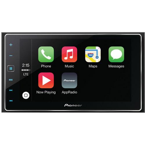 "Pioneer SPH-DA120 6.2"" Double-DIN In-Dash AppRadio 4 Receiverw/ Capacitive Touchscreen, Apple CarPlay, Bluetooth, Siri Eyes Free, Android Music Support, Pandora, FLAC Audio & SiriusXM Ready"