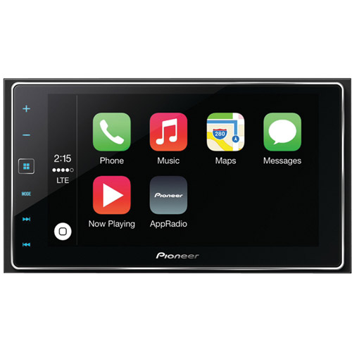 "Pioneer SPH-DA120 6.2"" Double-DIN In-Dash AppRadio 4 Receiver w/ Capacitive Touchscreen, Apple CarPlay, Bluetooth, Siri Eyes Free, Android Music Support, Pandora, FLAC Audio & SiriusXM Ready"
