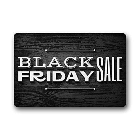WinHome Black Friday Doormat Floor Mats Rugs Outdoors/Indoor Doormat Size 23.6x15.7 inches
