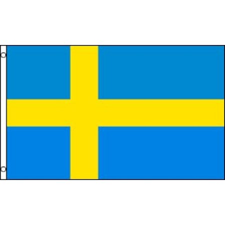 3x5 Sweden Flag Swedish Banner Country Pennant New Indoor Outdoor ()