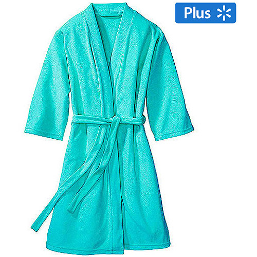 Women's Plus 3/4-Sleeve Lightweight Terry Robe