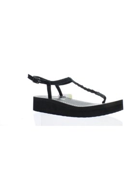 838a2d83a2c9 Product Image New Skechers Womens 38656 Black T-Strap Sandals Size 8