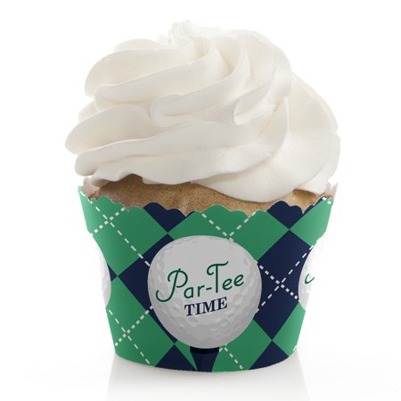 Golf Parties (Par-Tee Time - Golf - Birthday or Retirement Party Cupcake Wrappers - Set of)