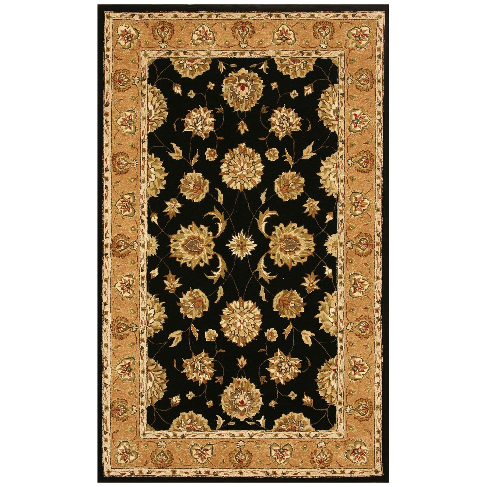 Dynamic Rugs Jewel 70230 Pom Persian Rug - Black/Camel