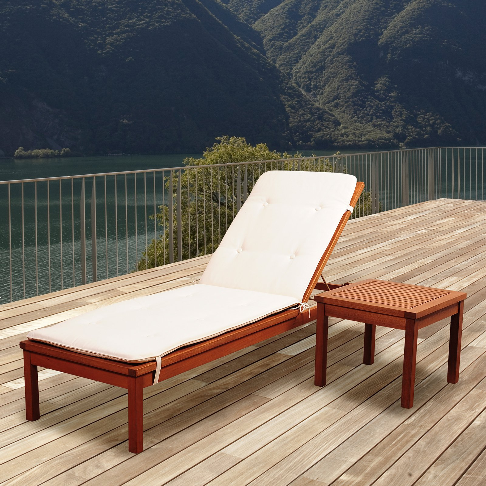 Amazonia Westfield 2 Piece Chaise Lounger Set with Cushion