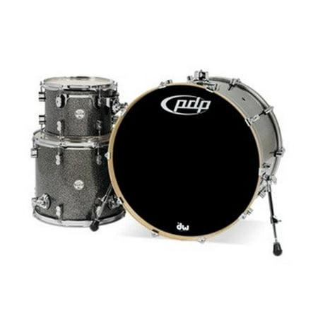 Drum Black Sparkle - PDP Concept Maple 3-Piece Drum Shell Pack w/ 24