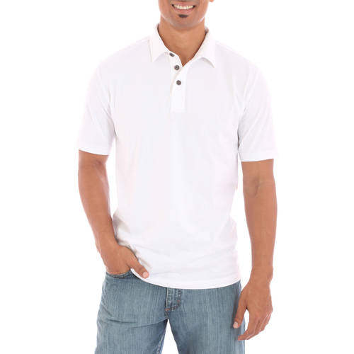Generic Wrangler Men's Short Sleeve Self Collar Polo