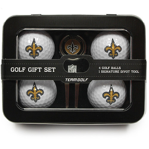 Team Golf NFL New Orleans Saints 4 Golf Ball And Divot Tool Set