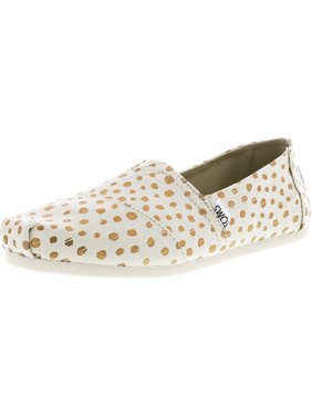bcf52cd688a21 Product Image Toms Women's Classic Canvas Natural Navy Polka Dot Ankle-High Flat  Shoe - 8M
