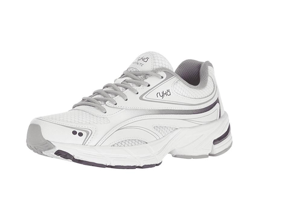 Grey Purple Athletic Walking Shoes