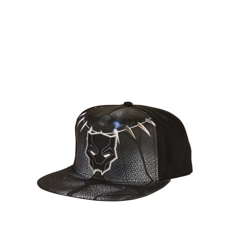Black Panther Suit Ballistic Fabric Ball Cap with Flat Bill and Adjustable Snapback Closure