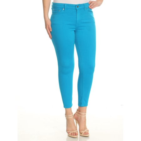 RALPH LAUREN Womens Blue Skinny Jeans Petites  Size: 8 (Blue Skinny Jeans)