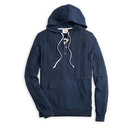 Cable Knit Hooded Henley](tommy hilfiger men's nylon hooded puffer bomber jacket)
