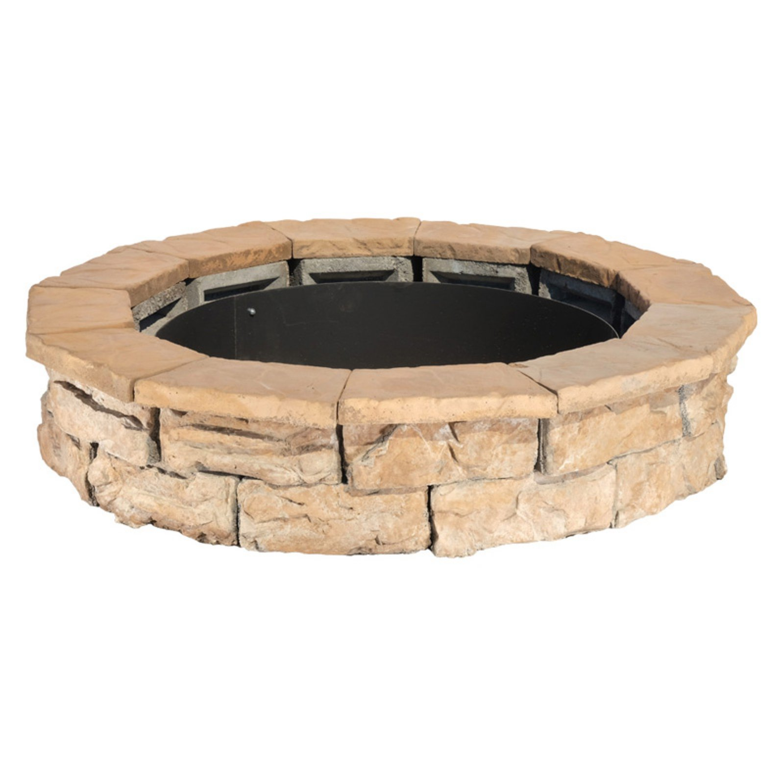 Natural Concrete Products Pantheon Round DIY Fire Pit Kit