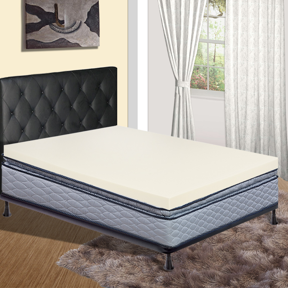 Mattress Solution, High density Foam Mattress Toppers with No Cover, King Size
