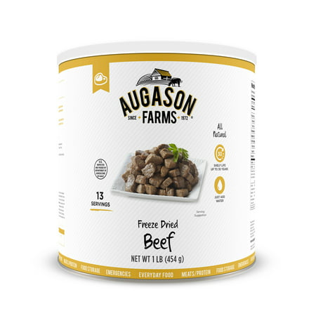 Augason Farms Freeze Dried Beef Chunks 1 lb No. 10 Can
