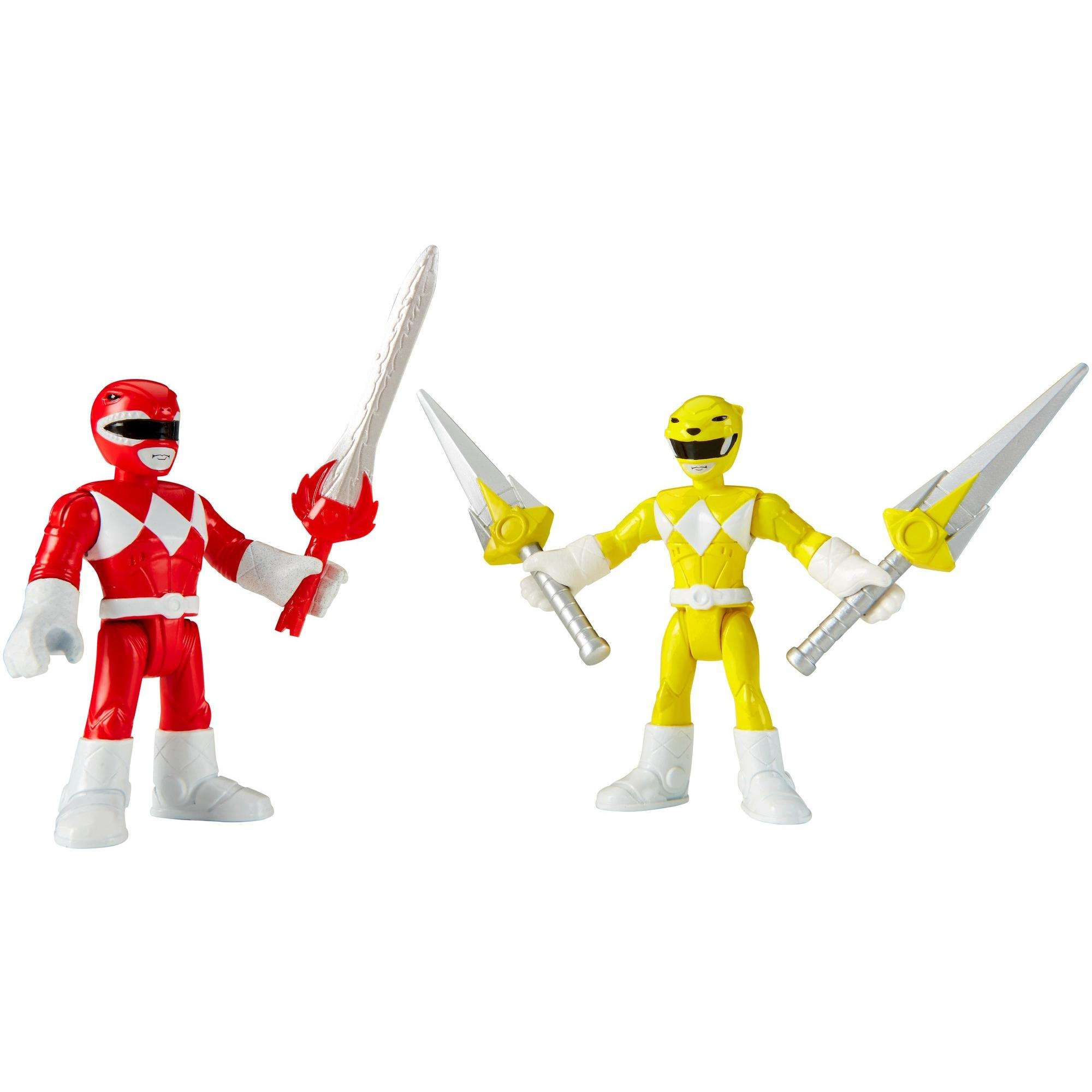 IMaginext Power Rangers Red Ranger & Yellow Ranger by FISHER PRICE