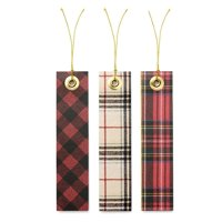 George Stanley Cozy Flannel-Like Holiday Gift Tags & String, 12 count