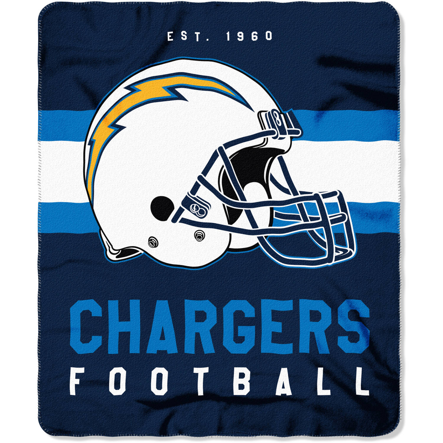 "NFL Los Angeles Chargers ""Singular"" 50"" x 60"" Fleece Throw"