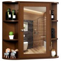Costway Multipurpose Wall Surface Bathroom Storage Medicine Cabinet with Mirror