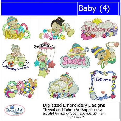 ThreadArt Machine Embroidery Designs Baby(4) CD