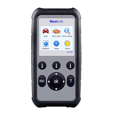 Autel MaxiLink ML629 OBD2 Scanner (Upgraded Version of ML619) Car Code  Reader with Engine/Transmission/ABS/SRS Diagnoses, Full OBD2 Functions &  DTC