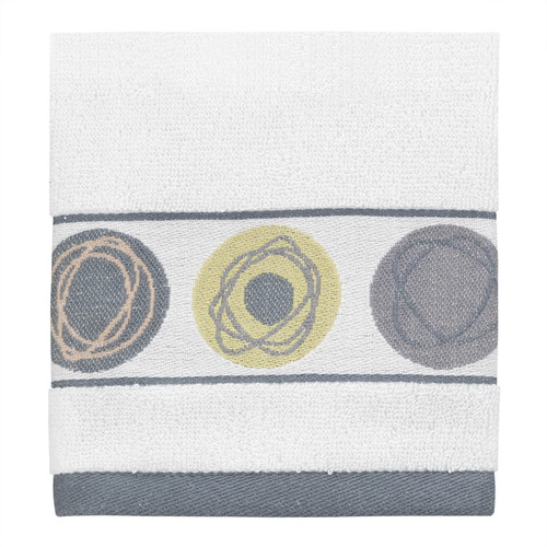 Creative Bath Dot Swirl Jacquard Wash Cloth
