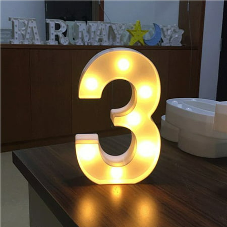 AMZER Decorative LED Illuminated Number Marquee Sign - Marquee Number with Lights For Wedding Birthday Party Christmas Night Light Lamp Home Bar Decoration - Led Lights Number