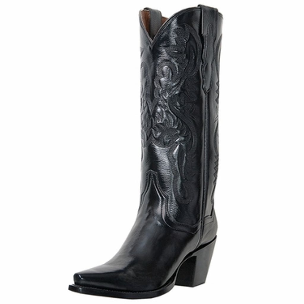 Wonderful Dan Post Black Leather Boots Western Boots Womens 8 Size 8