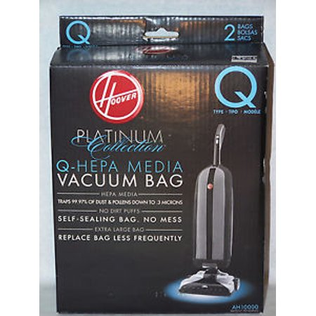 Hoover AH10000 Platinum Type-Q HEPA Vacuum Bag, (4 pack)