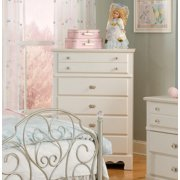 Standard Furniture Spring Rose 33 Inch Chest in White