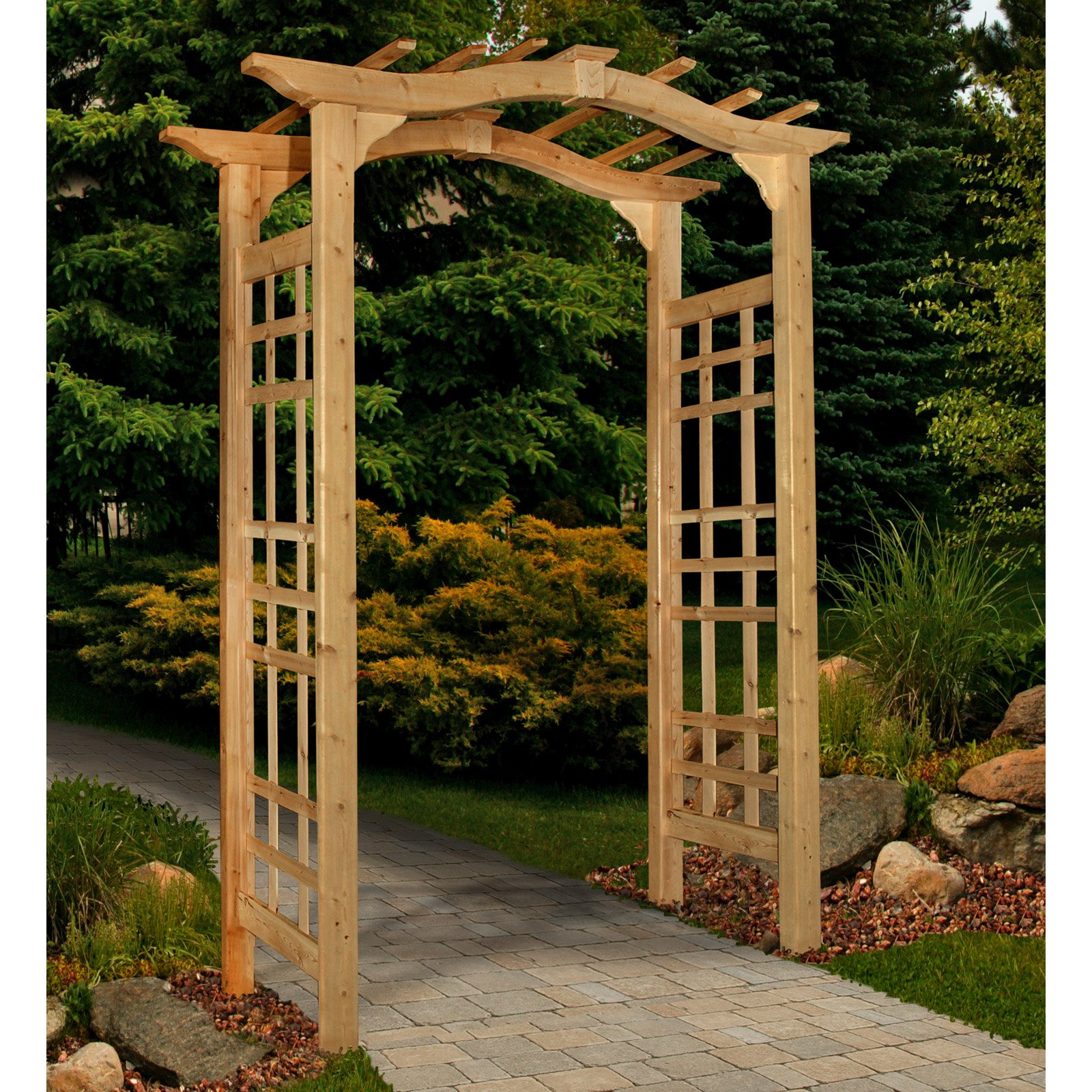 New England Arbors Westwood Arch Arbor by New England Arbors