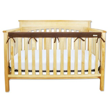Trend Lab Brown Bubbles - Waterproof CribWrap Rail Cover - For Narrow Long Crib Rails Made to Fit Rails up to 8