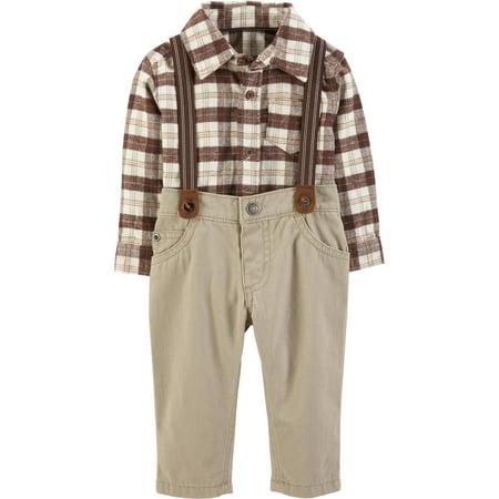 Carter's Baby Boys' 3-Piece Dress Me Up Set, Brown, 18 Months (Halloween Dress For Baby Boy)