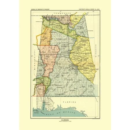 Alabama - Hoen 1896 - 23 x 32.49 Alabama Crimson Tide Pen