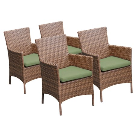 TK Classics Laguna Outdoor Dining Chairs - Set of 4 with 8 Cushion Covers ()