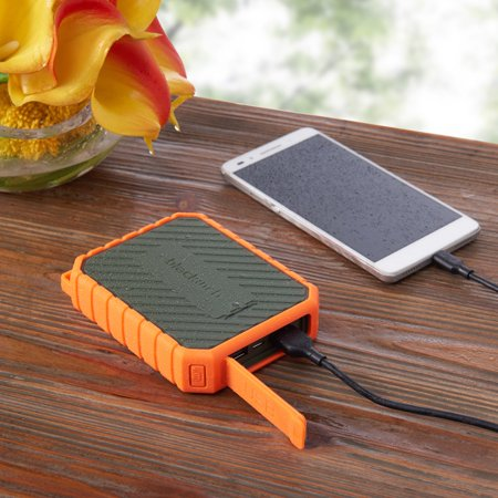 Blackweb 10,400 mAh Rugged Portable Battery 4X Extra Charges, Orange